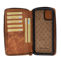 Pouch Magnetic Detachable Leather Wallet Case with RFID Blocker for Apple iPhone 11 Pro 5.8""