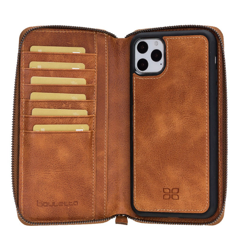 Pouch Magnetic Detachable Leather Wallet Case with RFID Blocker for Apple iPhone 11 Pro Max 6.5""