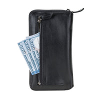 Pouch Magnetic Detachable Leather Wallet Case with RFID Blocker for Samsung Galaxy S20