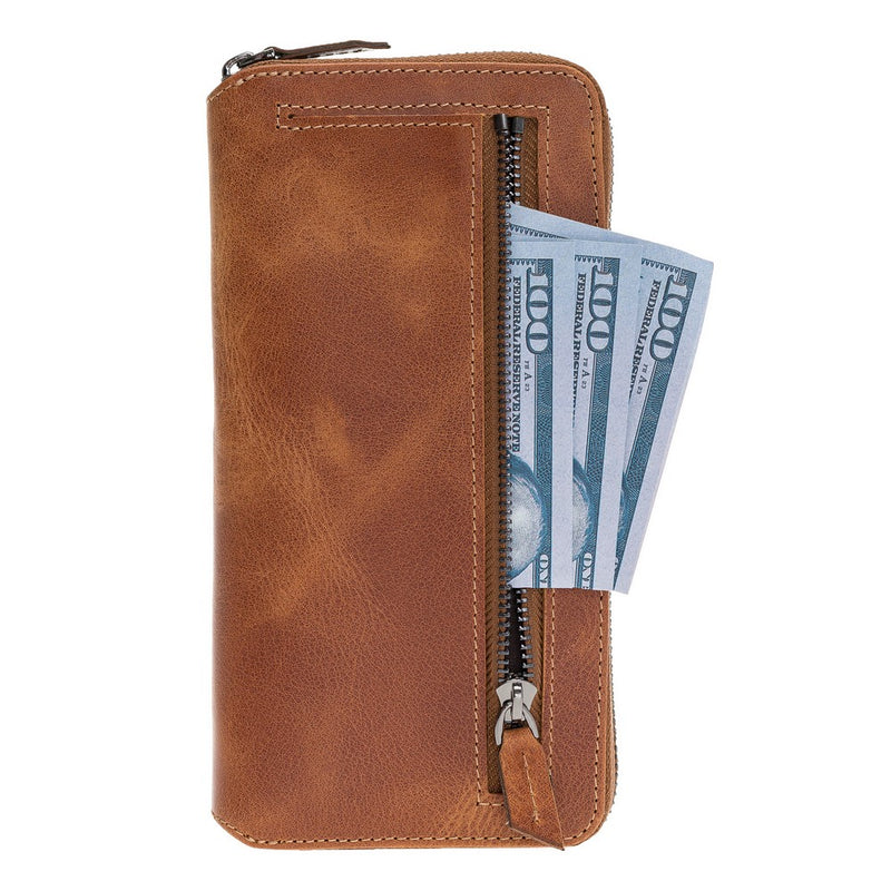 Pouch Magnetic Detachable Leather Wallet Caase with RFID Blocker for Samsung Note 10 Plus