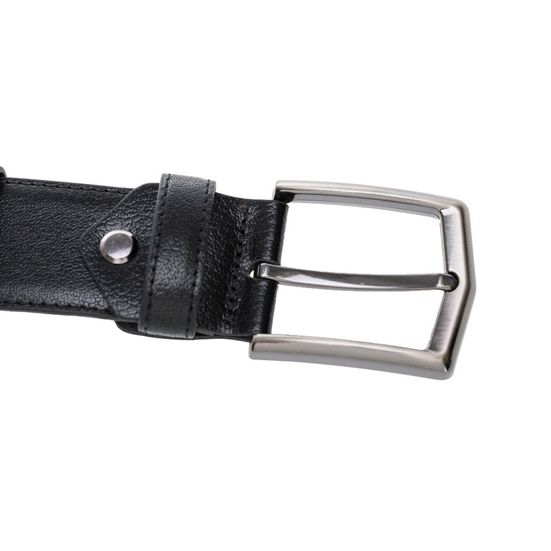 Sports Leather Belt- Silver Buckle