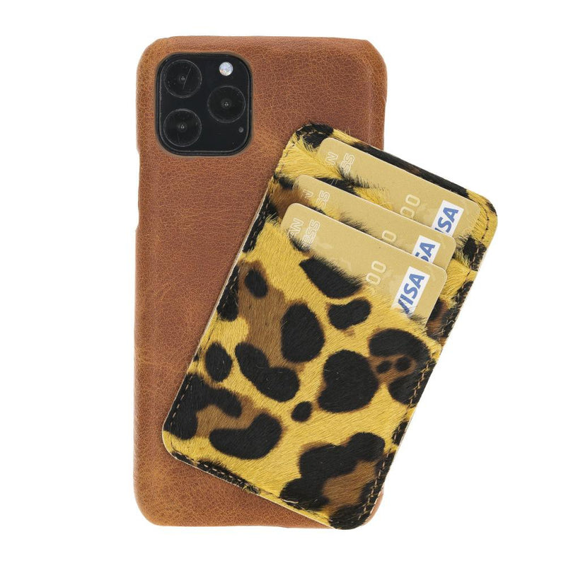 Ultimate Jacket Leather Phone Cases with Detachable Card Holder for iPhone 11 Pro