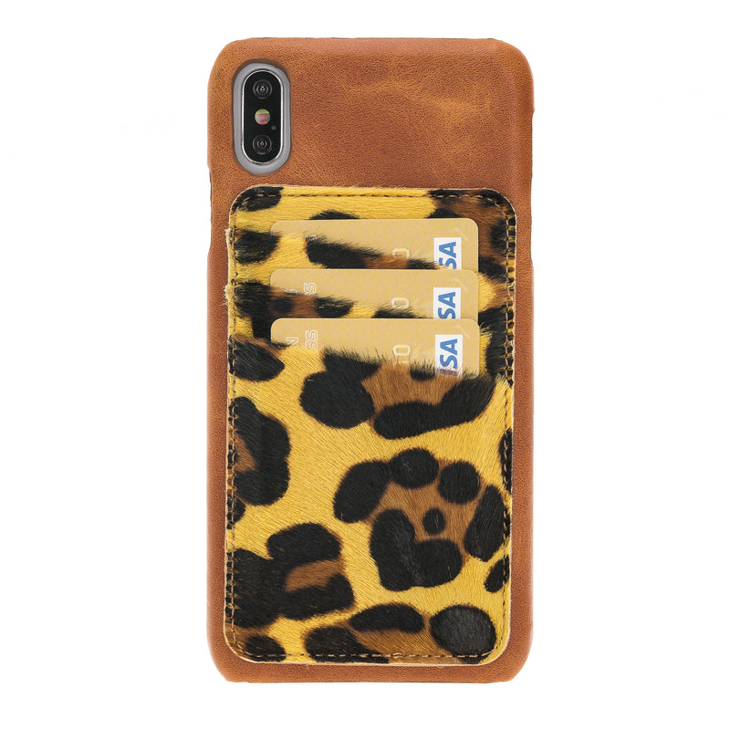 Ultimate Jacket Leather Phone Cases with Detachable Card Holder for iPhone XS Max