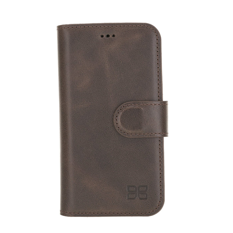Wallet Folio Leather Case ID Slot with RFID for iPhone 12 Mini 5.4""