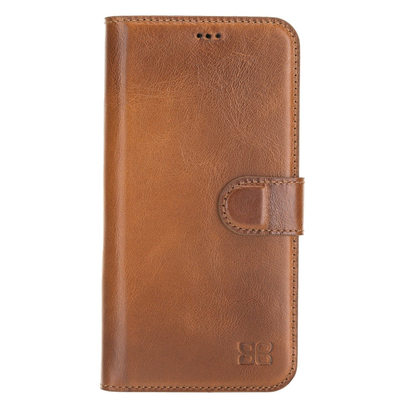 Wallet Folio Leather Case ID Slot with RFID for iPhone 12 & Pro 6.1""