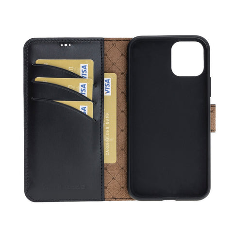 Wallet Folio Leather Case ID Slot with RFID Blocker for Apple iPhone 11 Pro 5.8""