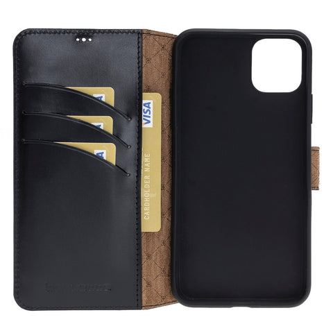 Wallet Folio Leather Case ID Slot with RFID Blocker for Apple iPhone 11 Pro Max 6.5""