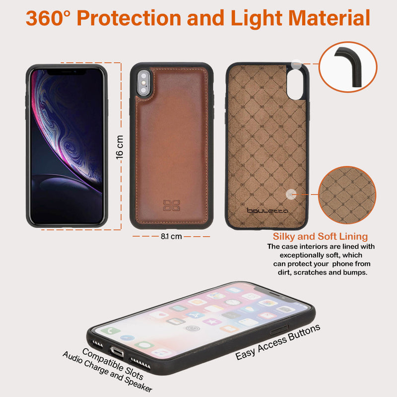 Flex Cover Back Leather Phone Case for Apple iPhone XS Max