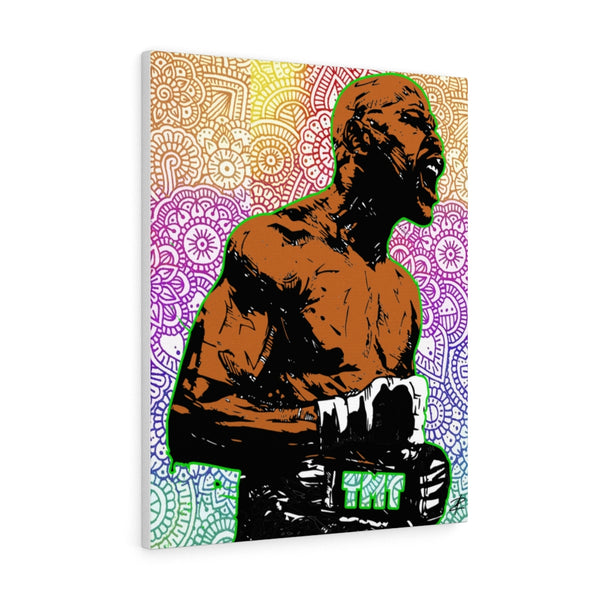 Mayweather by Jesse Raudales Canvas Gallery Wraps