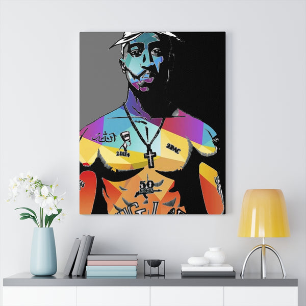 2Pac by Jesse Raudales Canvas Art Prints