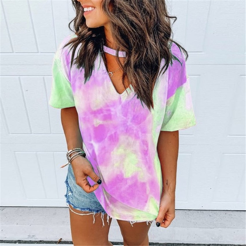 Blusinha Tie Dye Multiple Colors