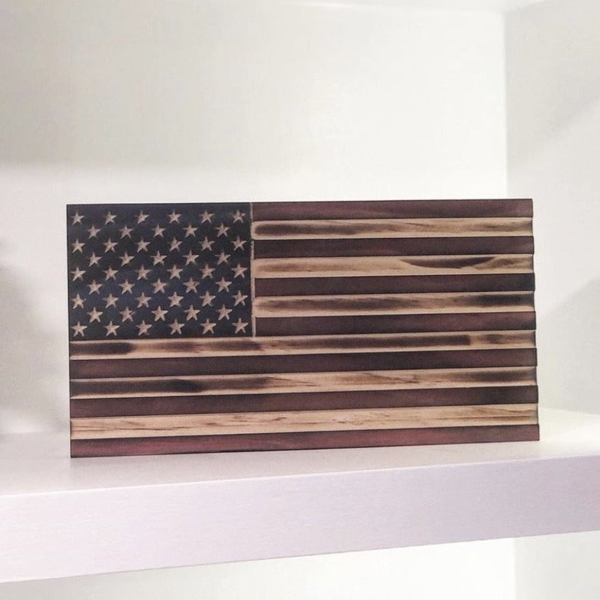 Old Glory Bookshelf Flag