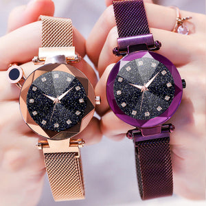 Ladies Magnetic Starry Sky Clock Luxury  Watches