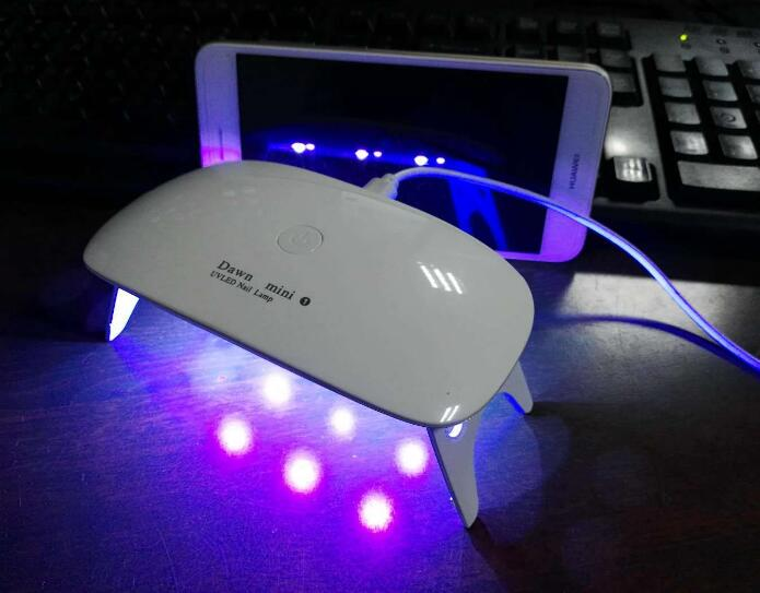 5W Nail Dryer LED UV Lamp Micro USB Gel Varnish Curing Machine