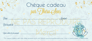 Chèque cadeau ThéraSens / TheraSens Gift certificate