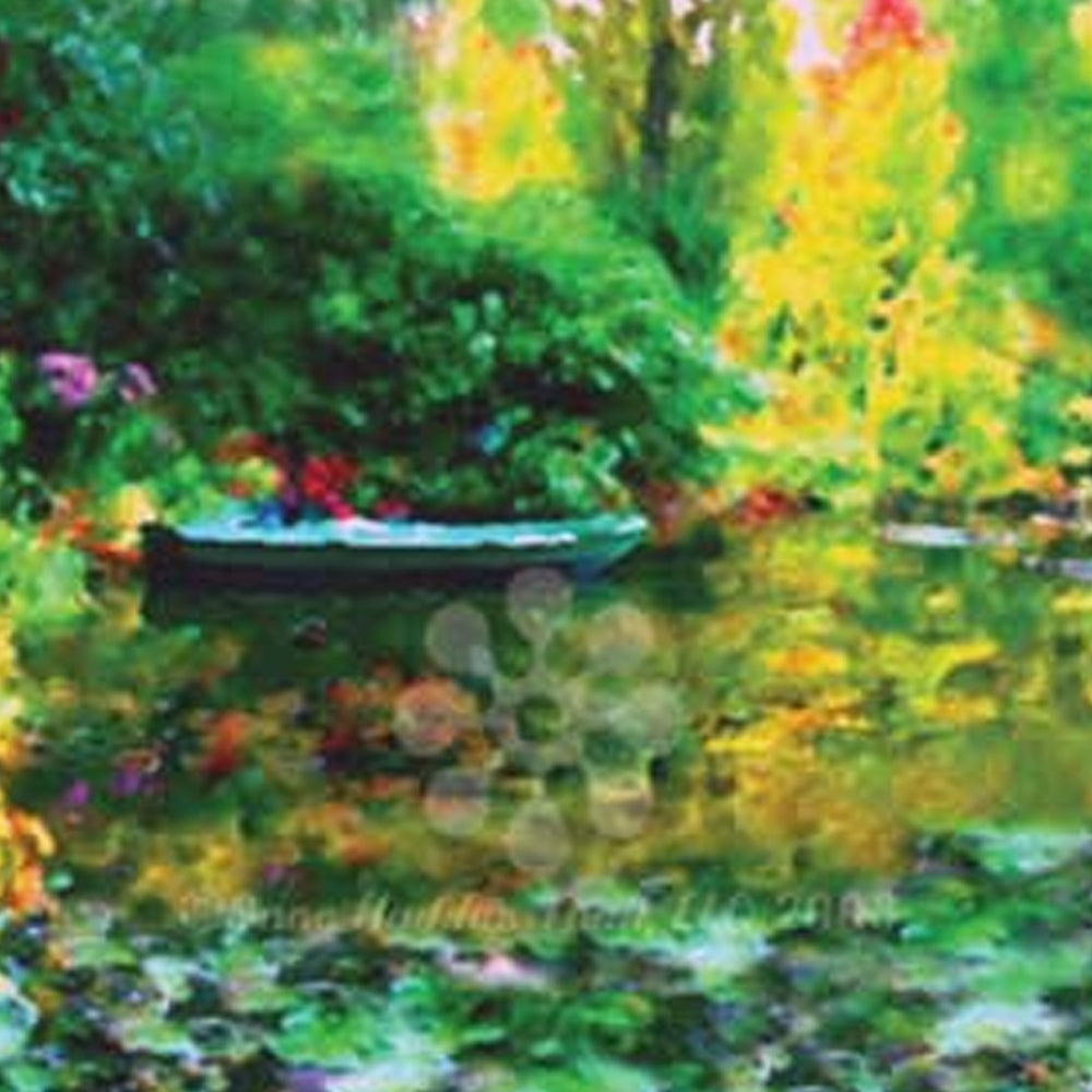 Monets Blue Boat Water | Until We Meet Again: fine art greeting cards, blank greeting cards, greeting cards with color pictures.
