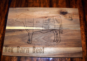 Beef Cuts Cutting Board