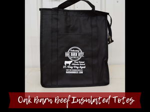 Oak Barn Beef Insulated & Reusable Grocery Tote