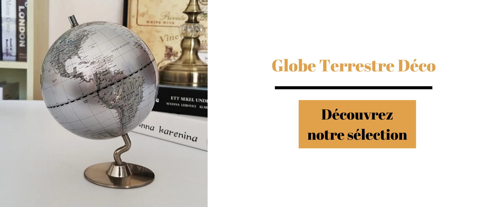 Globe terrestre déco selection blog.