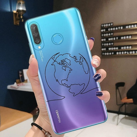 Coque Map Monde Huawei.