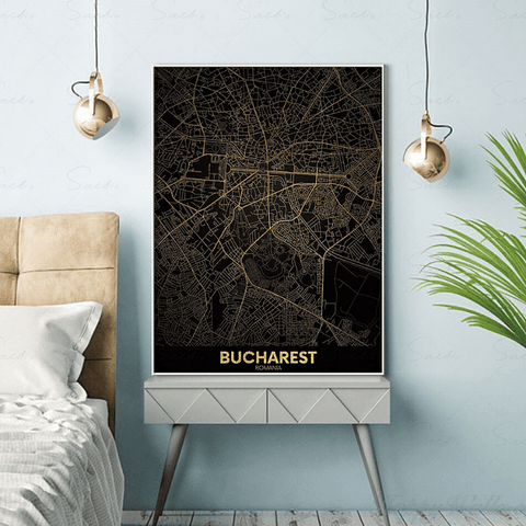Carte du monde déco bucharest.
