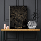 Carte du monde déco de bucharest.