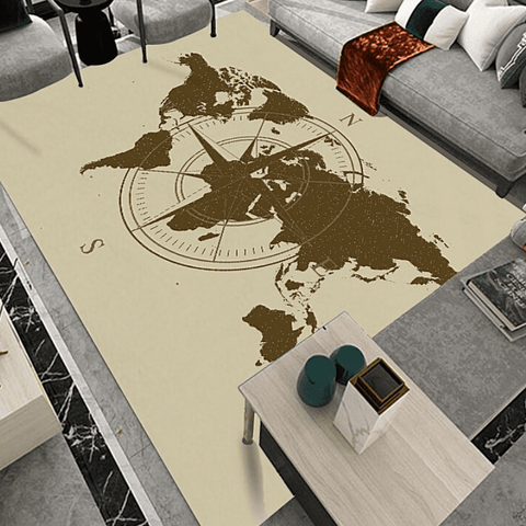 Tapis map monde explorer.