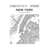 Carte Du Monde Déco New York Blanche