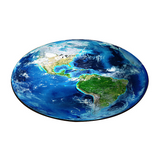 Tapis rond mappemonde terre.