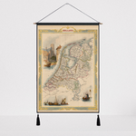 Toile carte du monde hollande.