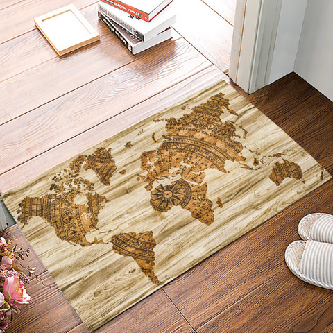 Tapis map monde original.