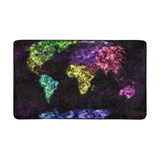 Tapis map monde en couleur.