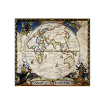 Carte du monde vintage antique andréa.