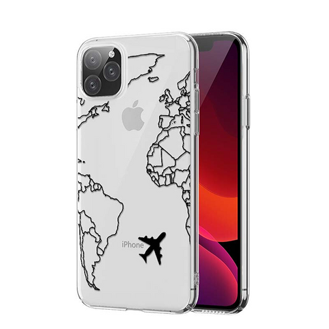 Coque Iphone Carte Du Monde Transparante Blanche