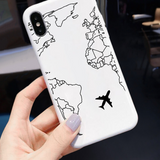 Coque Iphone Carte Du Monde Blanche