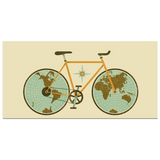 Carte du Monde Poster Bicycle