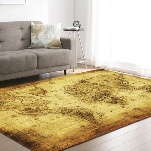 Tapis Carte Monde Salon
