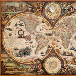 Mappemonde puzzle grand format.
