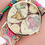Montre Carte Du Monde Rose