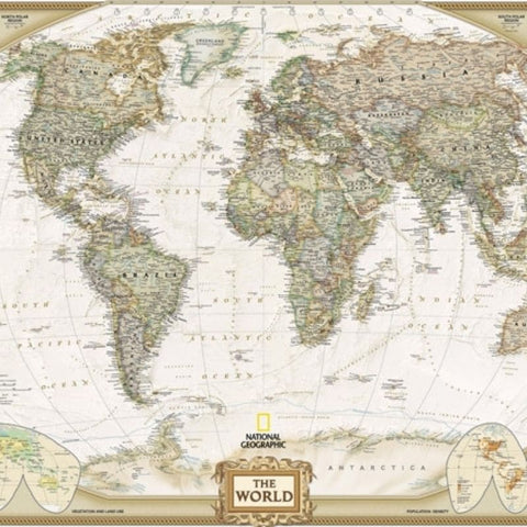 Papier Peint Mappemonde Vintage the world