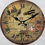 Horloge carte du monde authentique