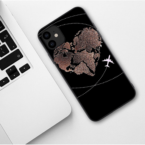 Coque map monde iphone.