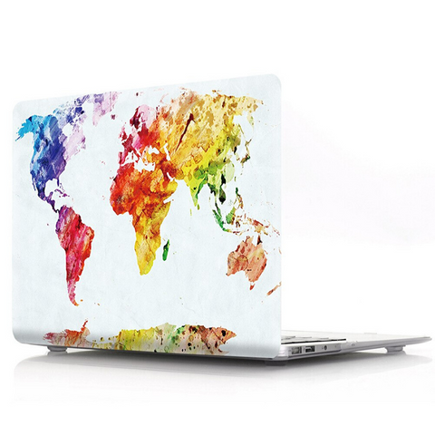 Coque Macbook Air 13 Carte du Monde Colorée