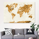 Carte du monde décoration orange.