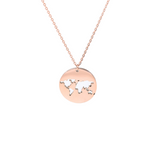 Collier monde rose gold.