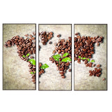 Tableau Carte Du Monde Grains De Café