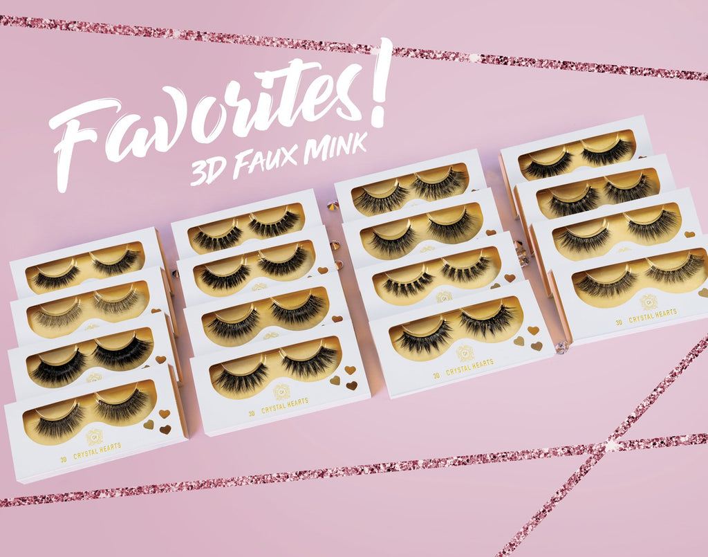 16 styles set 3D Faux Mink Eyelashes