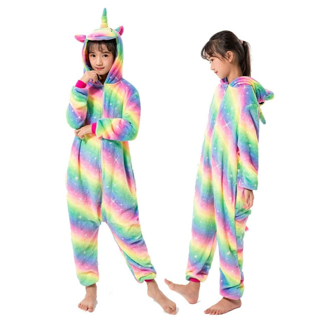 Unicorn Pajamas For Children Animal Cartoon Blanket Sleepers Baby Costume Winter 2019 new Boy Girl Licorne Onesie