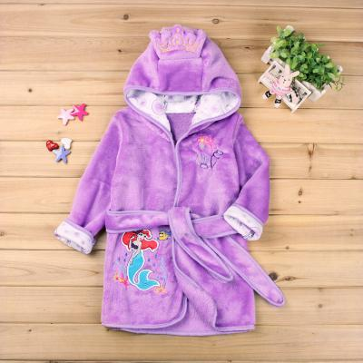 2020 Children Bathrobe Retail! Baby Pc 1 Boy / Girl Minnie And Mickey Soft Velvet Robe Pajamas Coral New Kids Dress Baby Clothes