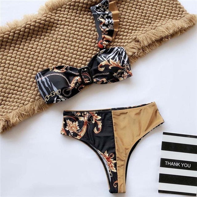 Sexy Leopard Bikinis 2020 Micro Bikini Set Push Up Thong Biquini High Cut Swimwear Women Mini Swimsuit Female Bathing Suit